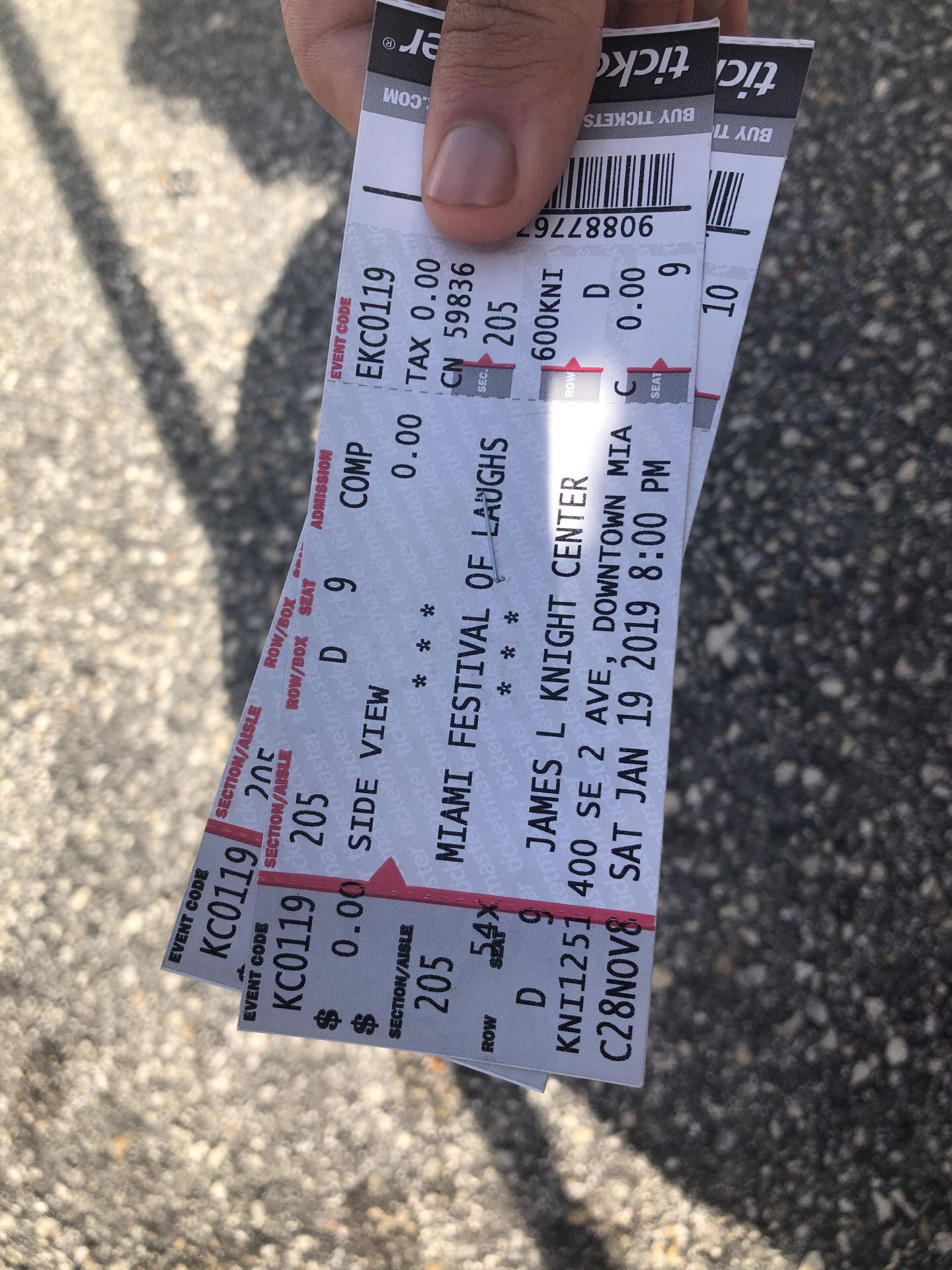 2 Tickets to see mike epps today at 8