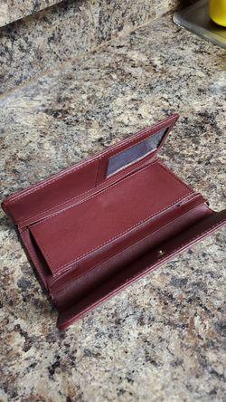 Maroon Tommy Hilfiger wallet. Thumbnail