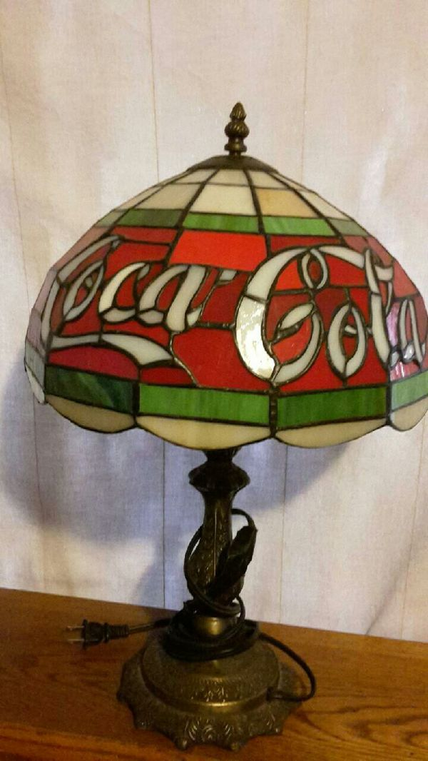 Tiffany Style Coca Cola Stained Gl Table Lamp For In Phoenix Az Offerup