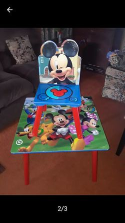 Mickey Mouse Kids Table With One Chair 30. Thumbnail