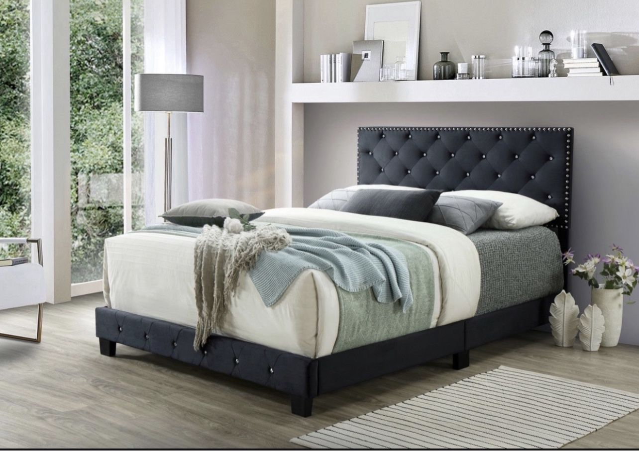 Queen Bed With Mattress Delivery Available