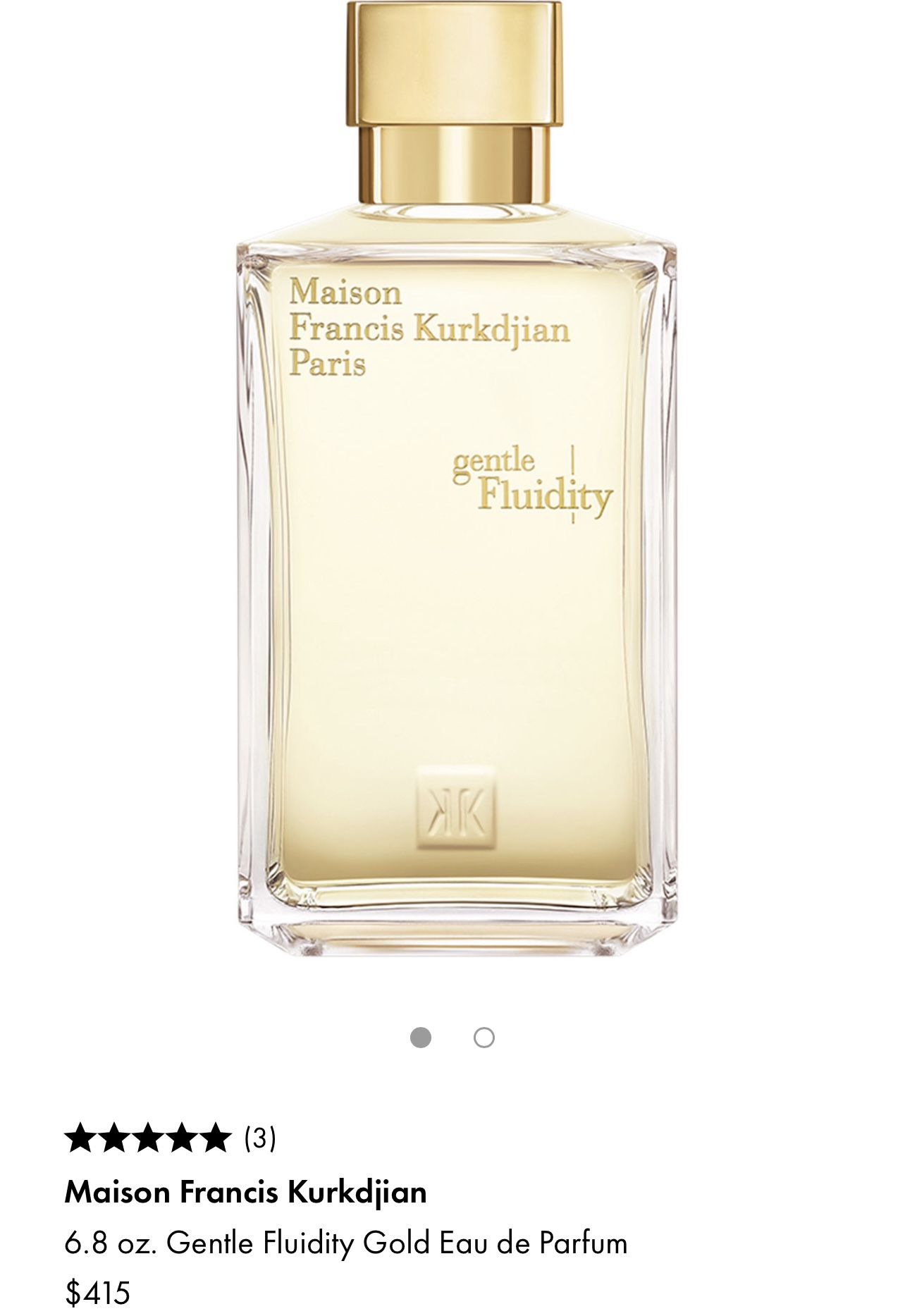 Cologne Maison Francis Kurkdjian / Gentle Fluidity Parfum 6.8 Oz