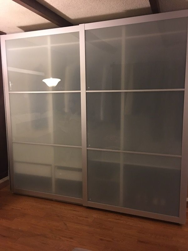 Ikea Pax Wardrobe With Frosted Glass Sliding Doors For In Union City Ca Offerup