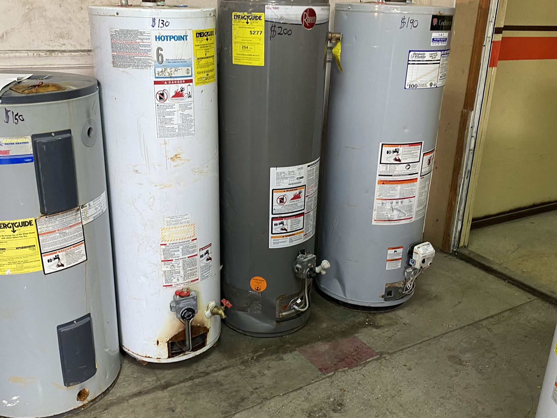 Hot Water Tanks Starting At $140