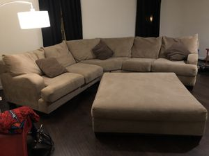 Sectional with ottoman for Sale in Glen Burnie, MD