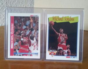 Photo Michael Jordan basketball card display