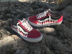 Custom Bape Shark Teeth Vans For Sale In Culver City CA