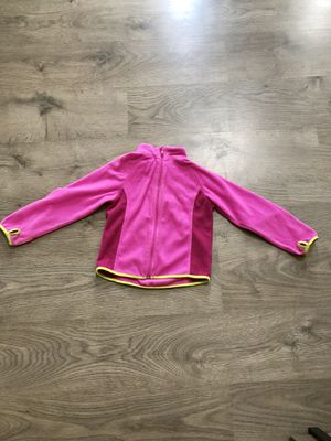 Pink soft fleece zip up jacket - size 4-6 yrs for Sale in Apex, NC