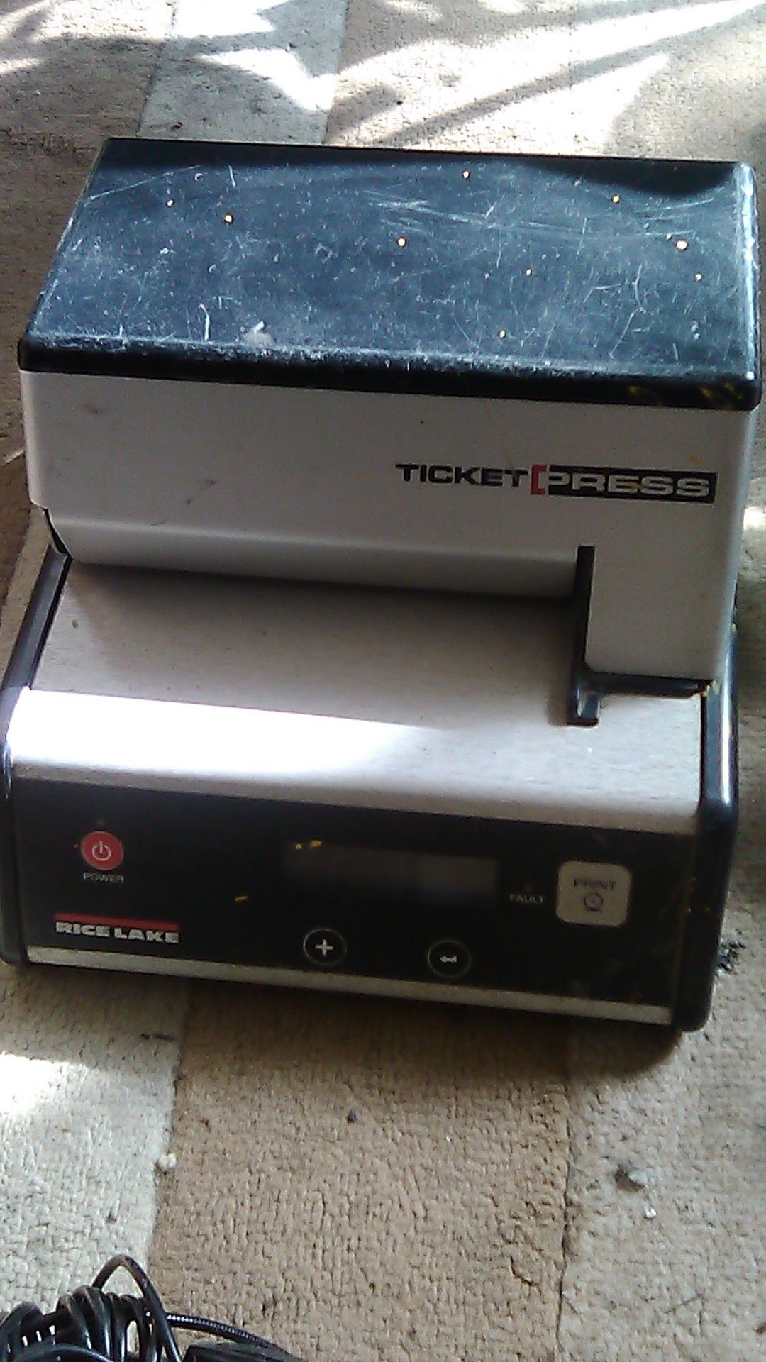 Ticket press time card puncher