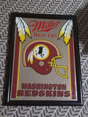 Rare Washington Redskins Miller High Life Framed Bar Mirror for Sale in Woodbridge, VA