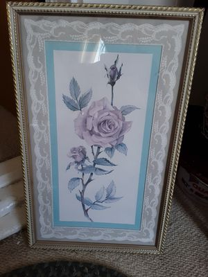 Photo Rose and vintage baby picture
