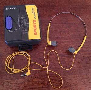 Vintage🛑SONY Sports Walkman w/ Headphones for Sale in Potomac Falls, VA