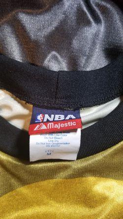 Men's long sleeve shirt lakers logo SIZE M black and yellow Thumbnail