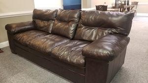 2 Dark Cocoa Leather Sofas for Sale in Burke, VA