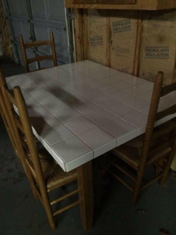 Handmade tile Kitchen table (Furniture) in Mechanicsville, VA - OfferUp
