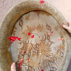 Hand Painted clay Plate Thumbnail