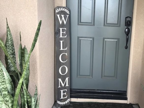 Wood Welcome Sign Porch Entry Rustic Farmhouse 3d Laser Laurels For Sale In Chula Vista Ca Offerup