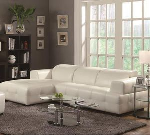 CONTEMPORARY STYLE SECTIONAL WHITE for Sale in Pembroke Park, FL