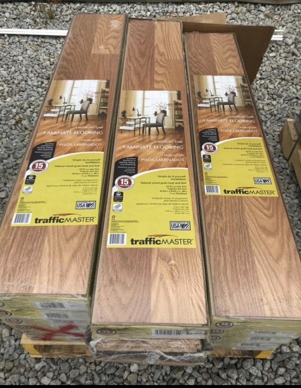 Laminate flooring $9 per box .........20 sq ft per box for ...