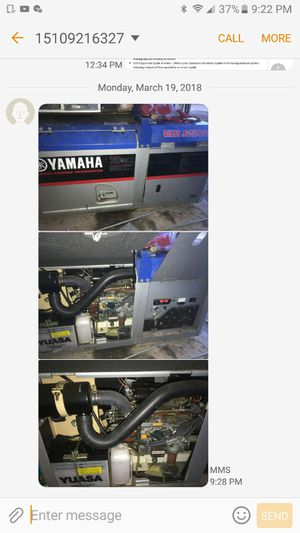 brand new Yamaha electric generator with diesel engine never used for Sale in San Diego, CA