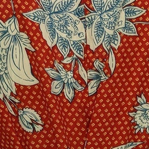 Jessica Simpson Dress Sz M Floral Print Ruffle Hem Midi Red 720702