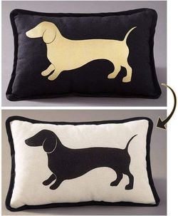 Dog Cat Design Pillows Couch Cushion Pet Lovers Reversible Thumbnail