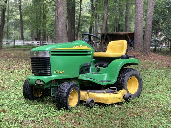 John Deere Lx 280 Riding Lawn Mower With Trailer For Sale In