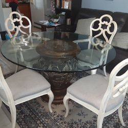Dining Table With Glass Top  Thumbnail