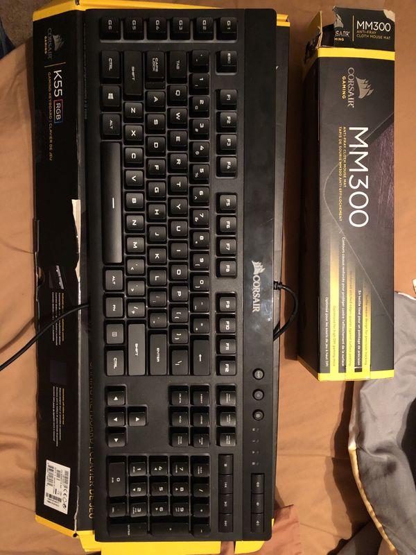 Corsair Gaming RGB Keyboard K55 for Sale in Murrieta, CA - OfferUp