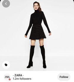 BootsHigh Knee Suede - ZARA Thumbnail