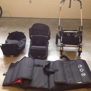Photo Bugaboo cameleon stroller with easy transport bag / infant - toddler- car seat adapter- transport bag