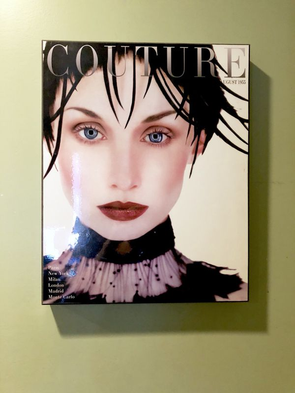 Z Gallerie Couture Vintage Magazine Wall decor art - ready to hang ...
