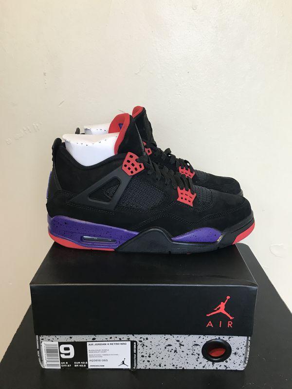 sports shoes e8522 4b94a Size  8,8.5,9,9.5,10.5  Air Jordan 4 Retro Raptors Black OG Court Purple  (No Trades) for Sale in Sunrise, FL - OfferUp