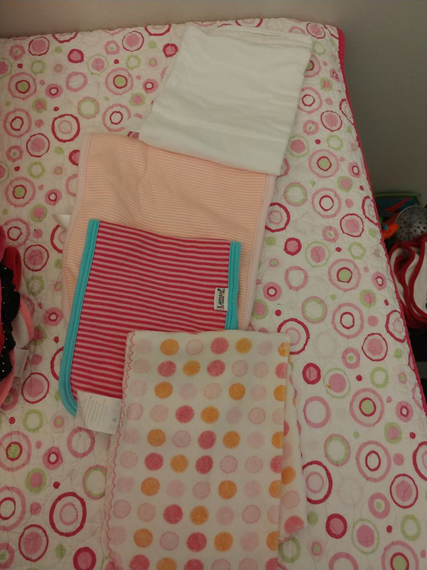 All Bibs and Burp Clothes do not have stains and are in great condition. Selling in lots