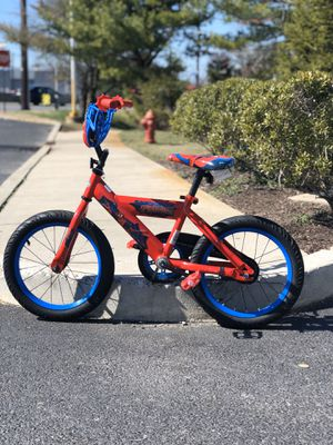 Photo Gently Used Kids Spiderman Bike Only $20!