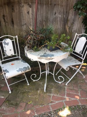 Metal table and 2 chairs for Sale in Santa Monica, CA