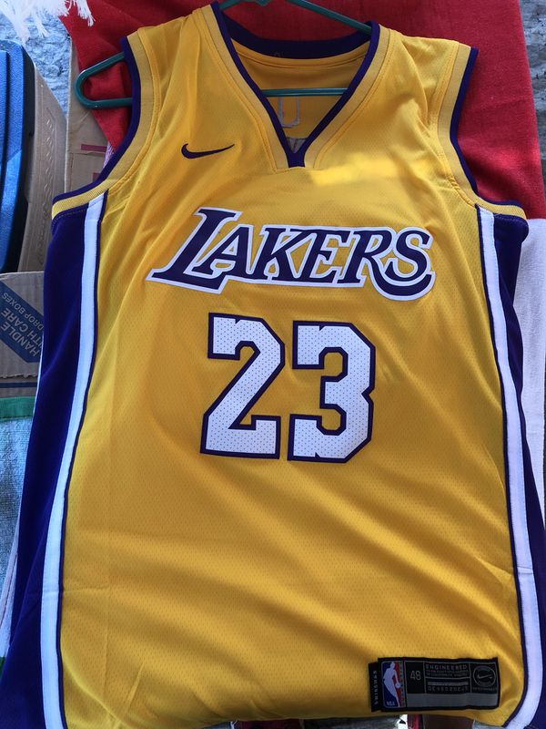 b321a5a304e9b Lakers Lebron James Authentic Nike NBA Jerseys for Sale in Fresno ...