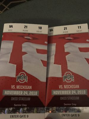 Ohio state Michigan 11/24/18 football tickets for Sale in Hilliard, OH