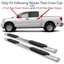 Photo Nissan Titan 2004-2015 Crew Cab Chrome Oval Side Step