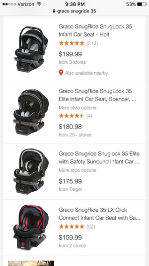 Infant Graco Snagride 35 Car Seat And 2 Bases For Sale In Colleyville TX