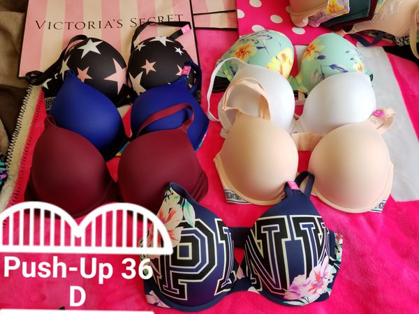 d64398ba15ca0 Victoria s Secret Bra PINK WEAR EVERYWHERE SUPER PUSH-UP Size 36D for Sale  in Whittier