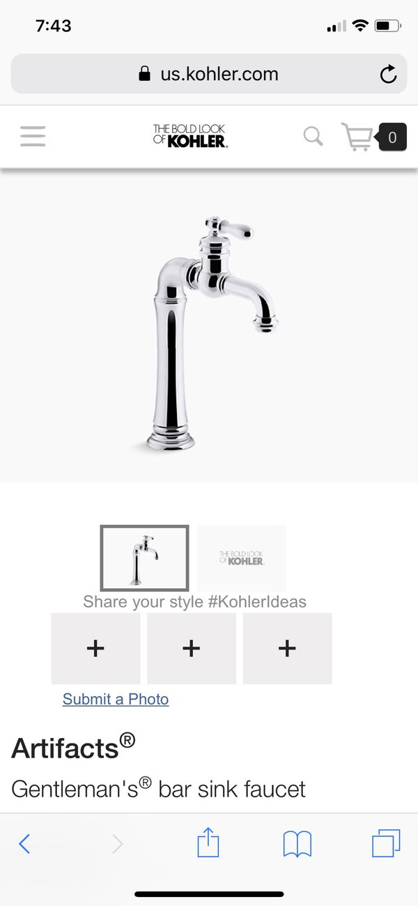 Kohler Artifacts Gentleman\'s Bar Faucet - Chrome for Sale in Miami ...