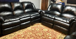 Photo Real leather recliners brand new only less than year old never used got for movie room.with tags