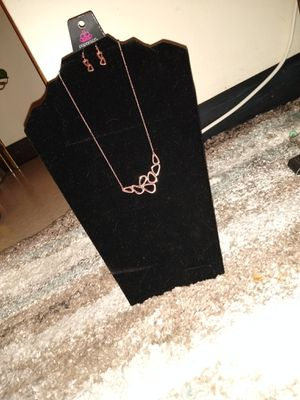 Photo Gold necklace & ear rings