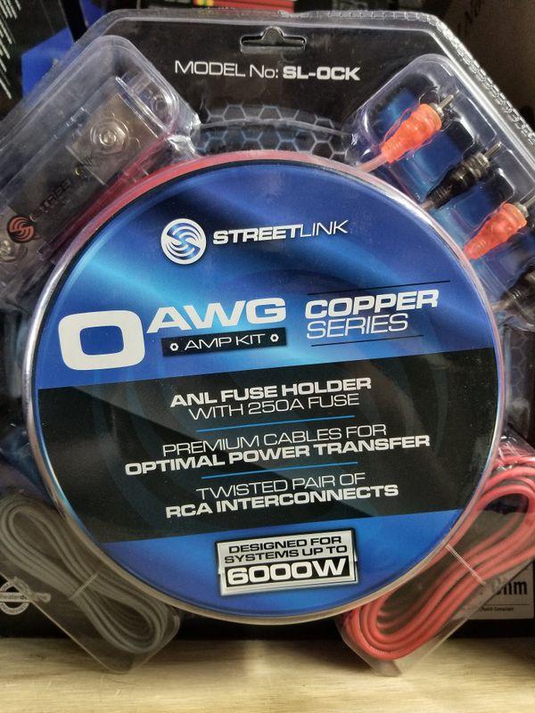 Brand New 0 gauge Street Link 100% Copper amp kit for Sale in Dallas ...