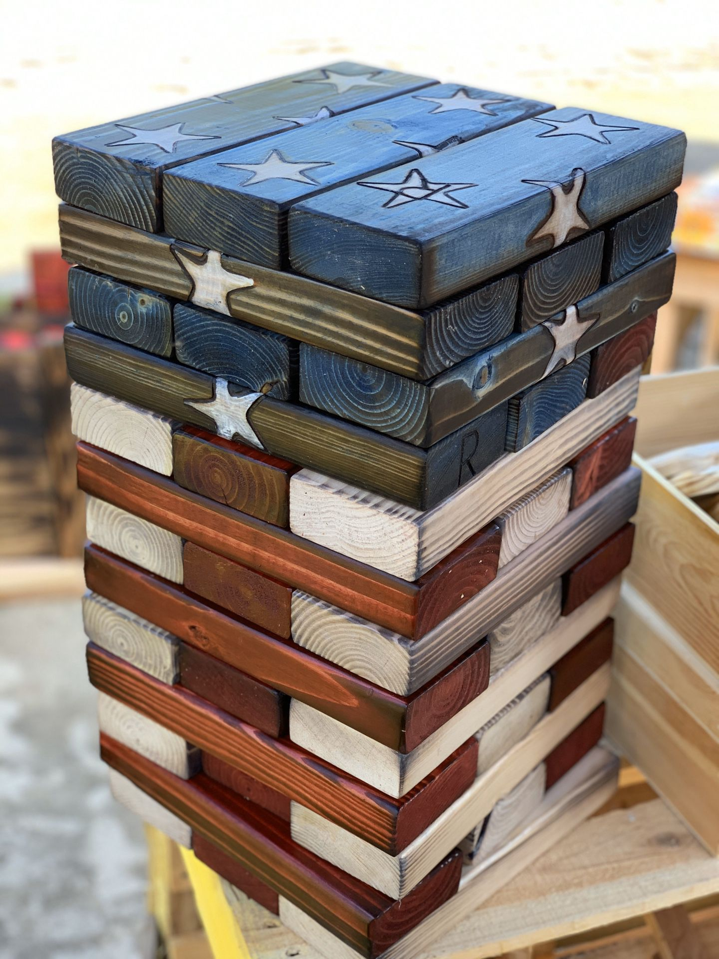 Jenga with carrier