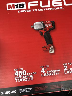 1/2 mid torque impact wrench for Sale in Darnestown, MD