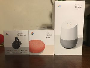 Google Home Bundle(smart home bundle)-New for Sale in Silver Spring, MD