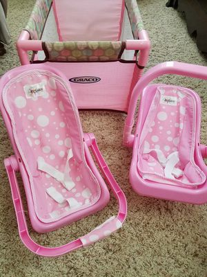 Baby doll crib and baby doll carriers for Sale in Fort Belvoir, VA