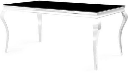 In Stock Ada Black Glass Dining Set | D858DT  byGlobal USA   Thumbnail